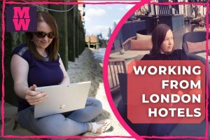 Working from London hotels and co-working spaces - remote work