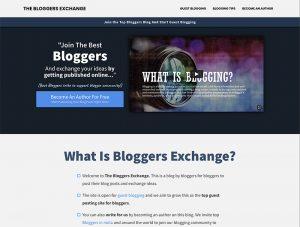 The Bloggers Exchange_screenshot