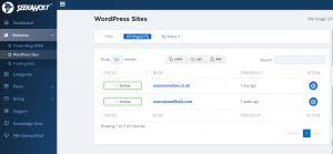 WordPress Seiten Überblick im Dashboard