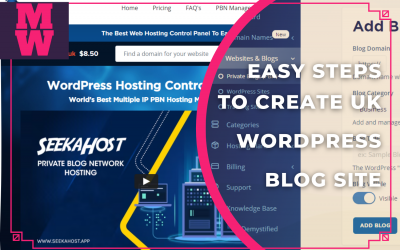 How to register a Domain Name UK & Easy Steps to create a UK WordPress Blog Site