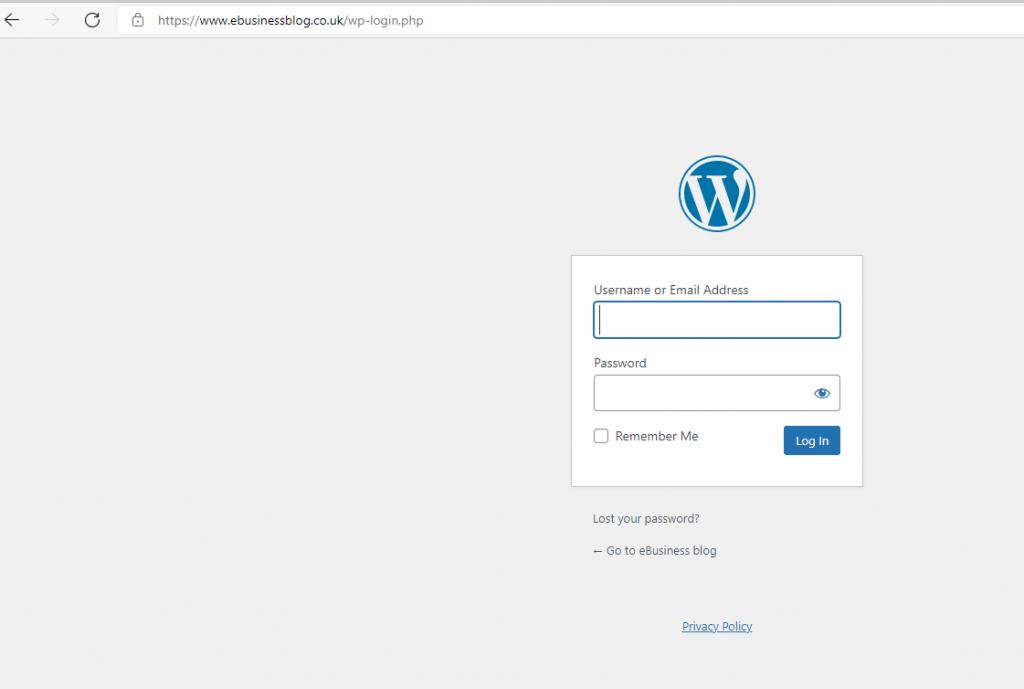 seekahost app WordPress site login